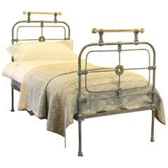 Single Antique Bed in Blue Verdigris, MS31