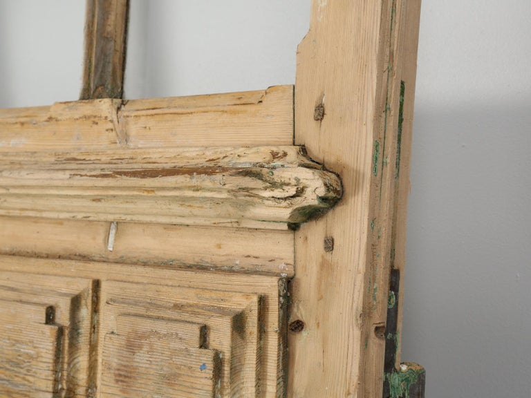 Single Antique French Door with Raised Panels For Sale 5