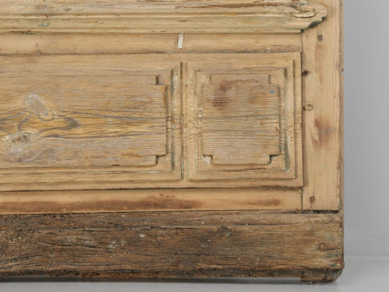 Single Antique French Door with Raised Panels For Sale 6