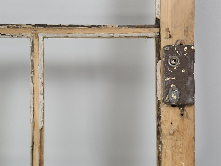 Single Antique French Door with Raised Panels For Sale 10