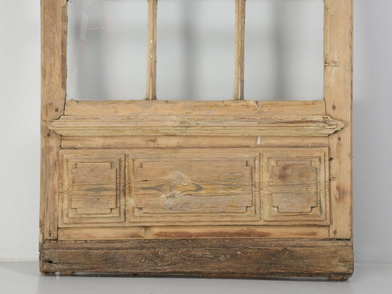 Single Antique French Door with Raised Panels For Sale 2