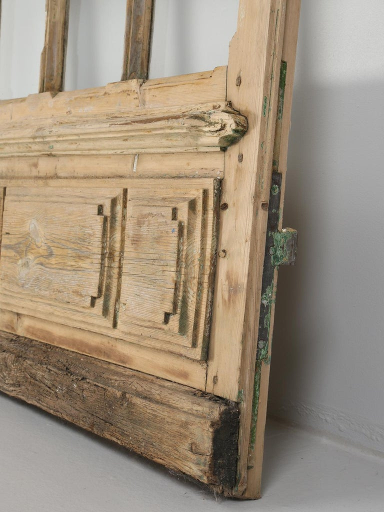Single Antique French Door with Raised Panels For Sale 4