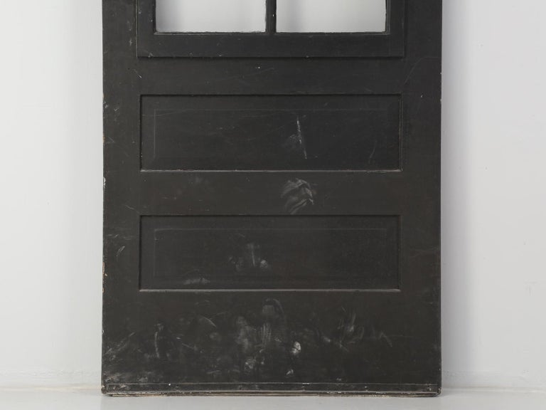 Single Antique French Painted Door with Original Hardware For Sale 10