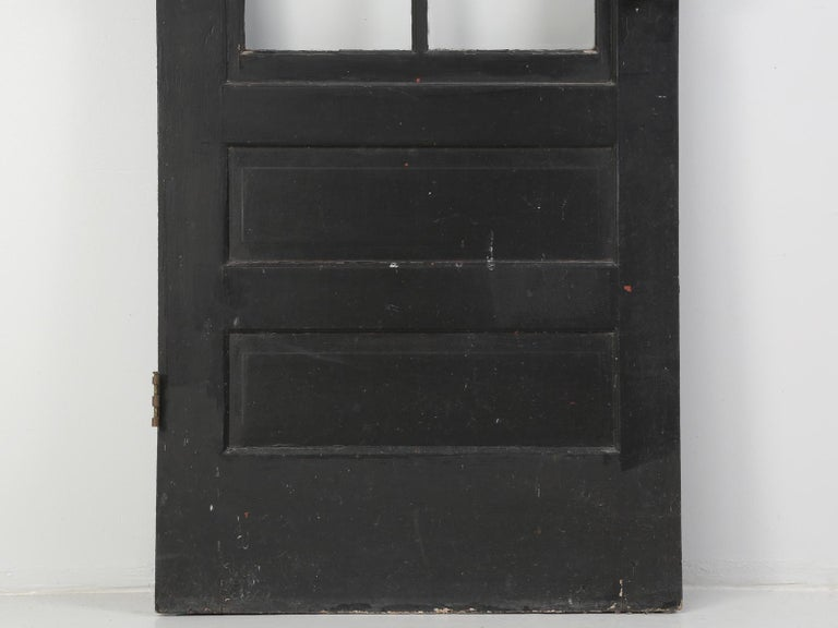 Single Antique French Painted Door with Original Hardware For Sale 2