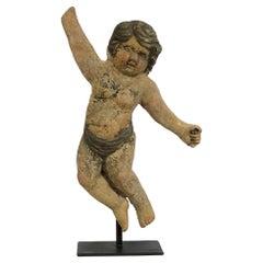 Single Antique Italian Terracotta Cherub