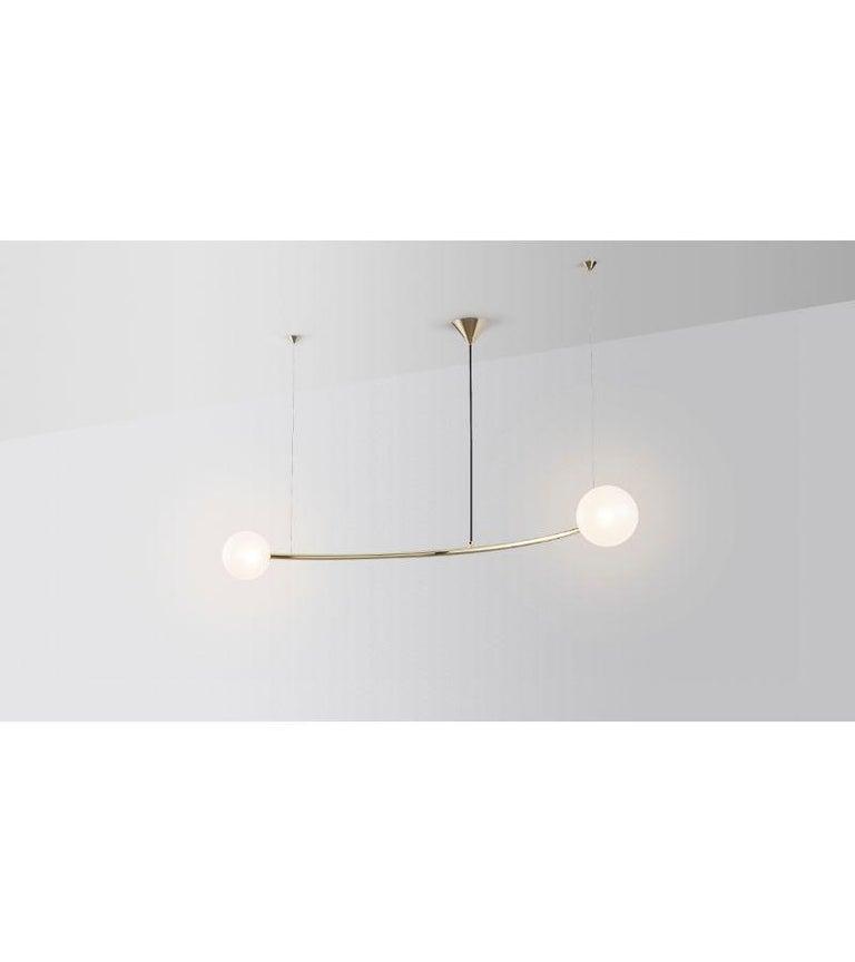 Modern Single Arc Oddments Chandelier by Volker Haug For Sale