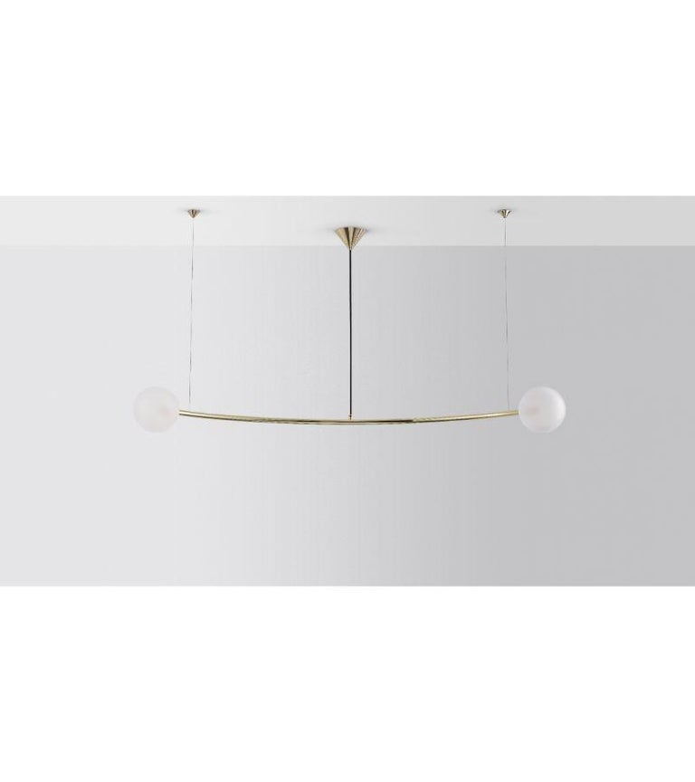 Contemporary Single Arc Oddments Chandelier by Volker Haug For Sale