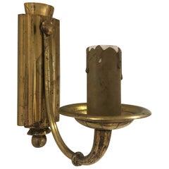 Single Arm Art Deco Brass Sconces