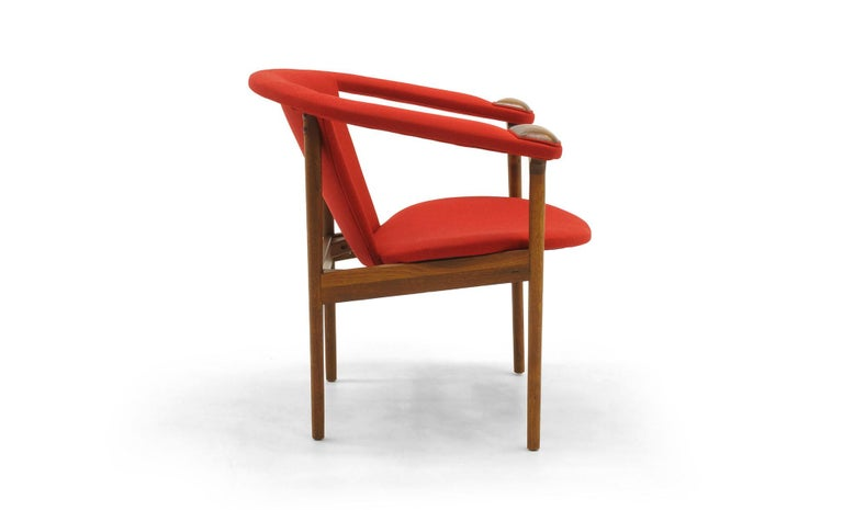 Mid-Century Modern Single Arm Lounge Chair by Adrian Pearsall, Expertly Restored, Red Knoll Fabric