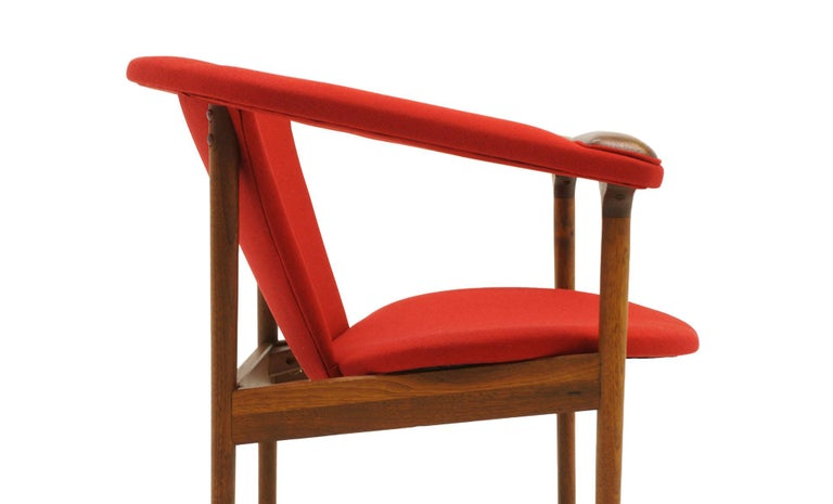 Upholstery Single Arm Lounge Chair by Adrian Pearsall, Expertly Restored, Red Knoll Fabric