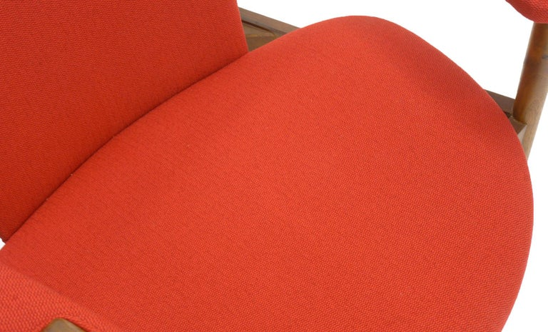Single Arm Lounge Chair by Adrian Pearsall, Expertly Restored, Red Knoll Fabric 2
