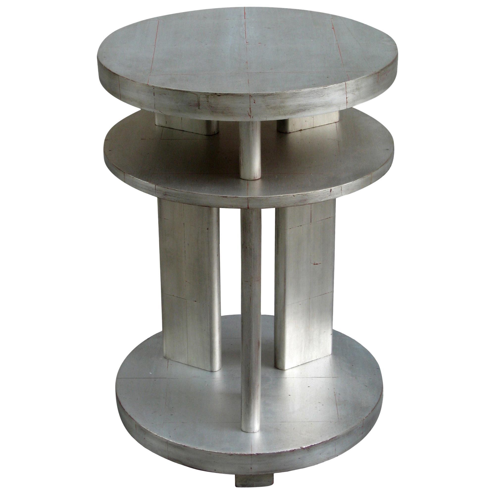 Single Art Deco Gilded Side Table