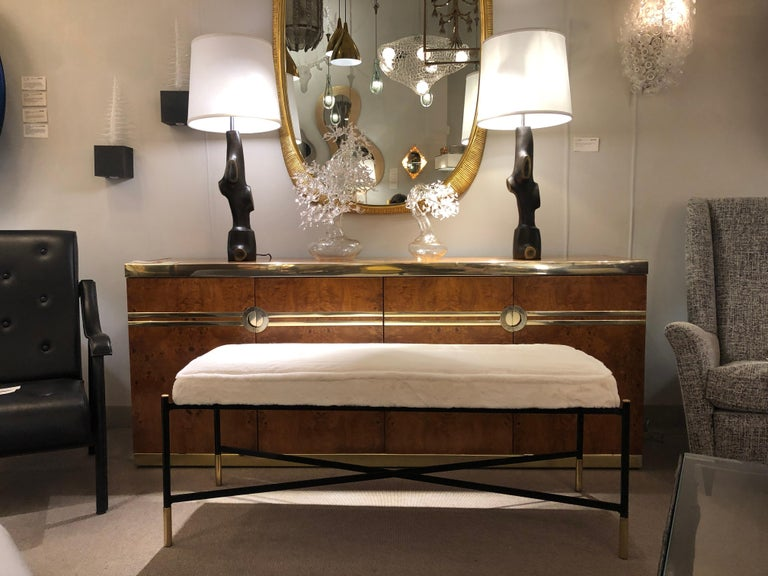 Mid-Century Modern Single Bench, France, 2018 For Sale
