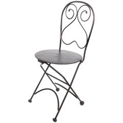 Single Bistro Style Folding Chair