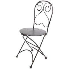Single Bistro Style Folding Chair