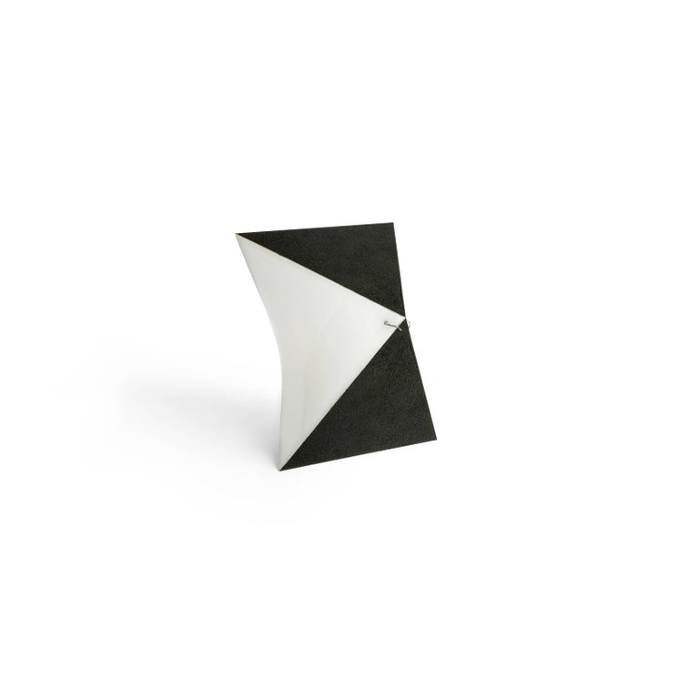 Modern Single Black and White RAAK Sconce For Sale