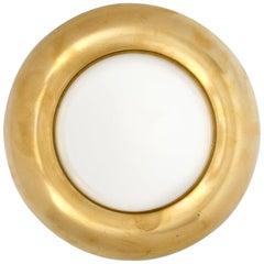 Single Brass and Glass Vintage Sconce