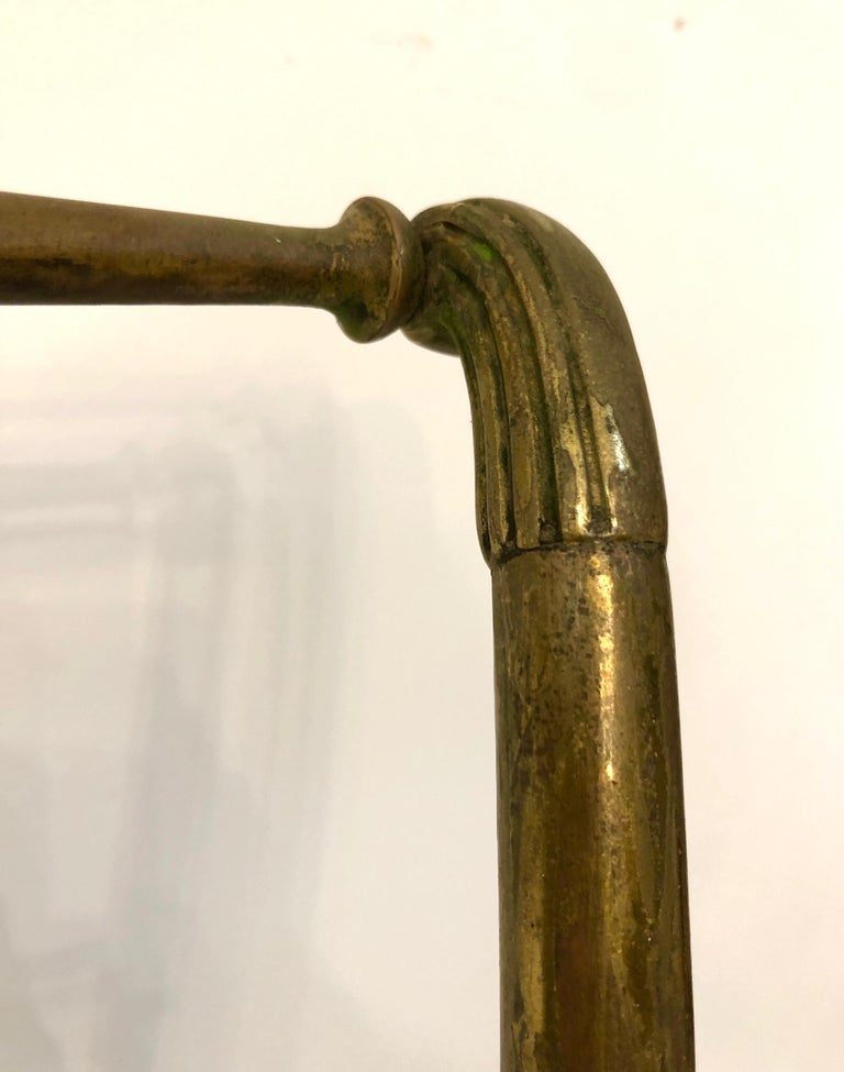 Single Brass Occasional Chair For Sale 2