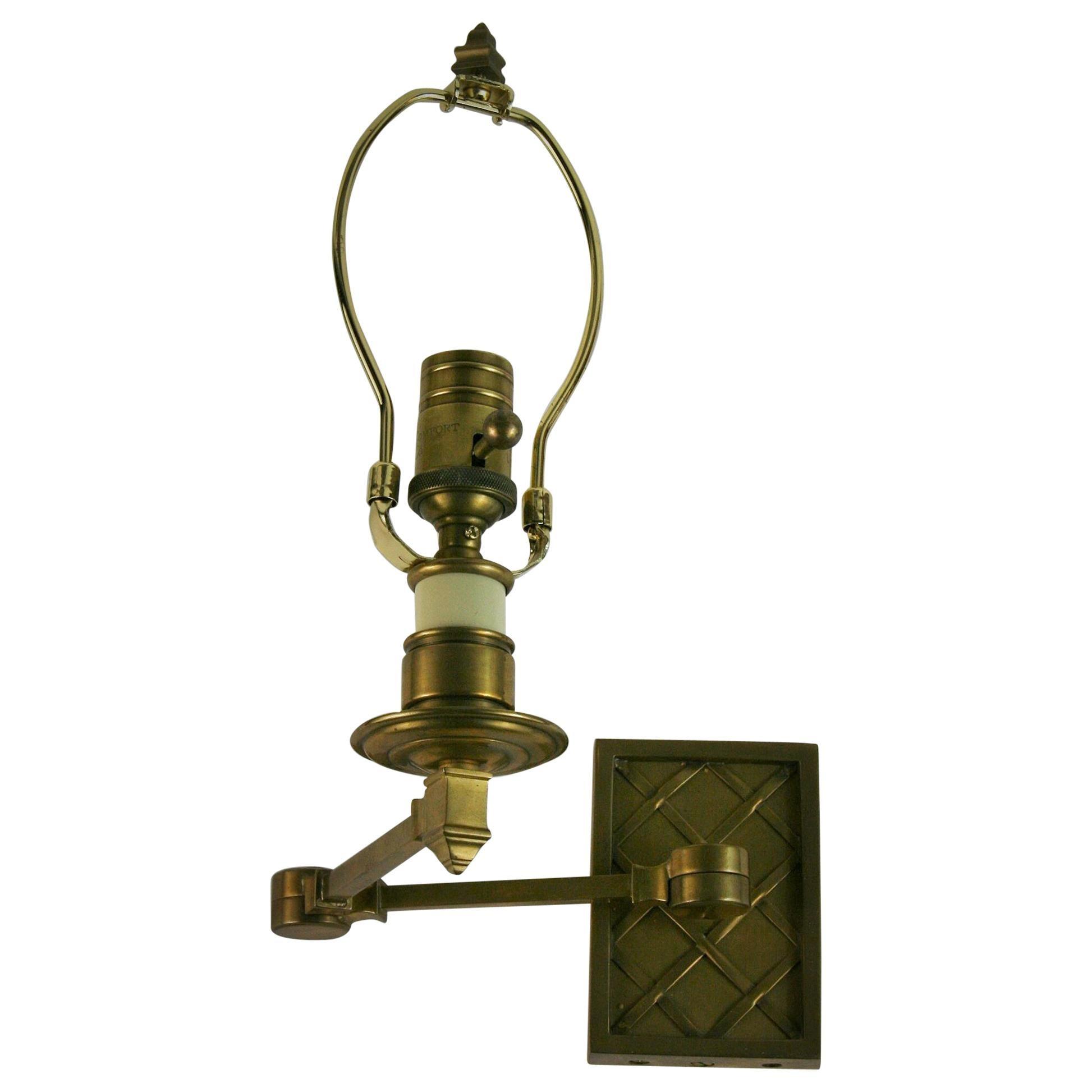 Single Brass Swing Arm Sconce