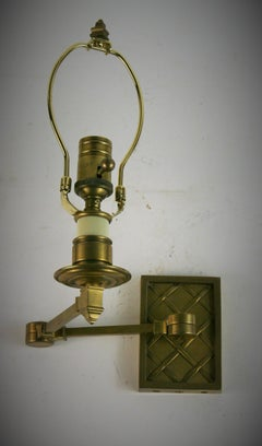 Single Brass Swing Arm Sconce