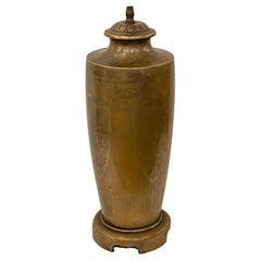 Single Bronze Table Lamp
