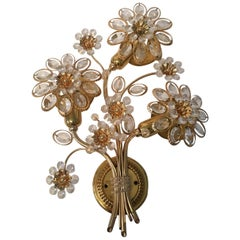 Single Bunch of Flowers Shaped Sconce by Palwa, German, 1970s