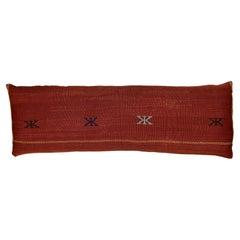 Single Cactus Silk Red Pillow