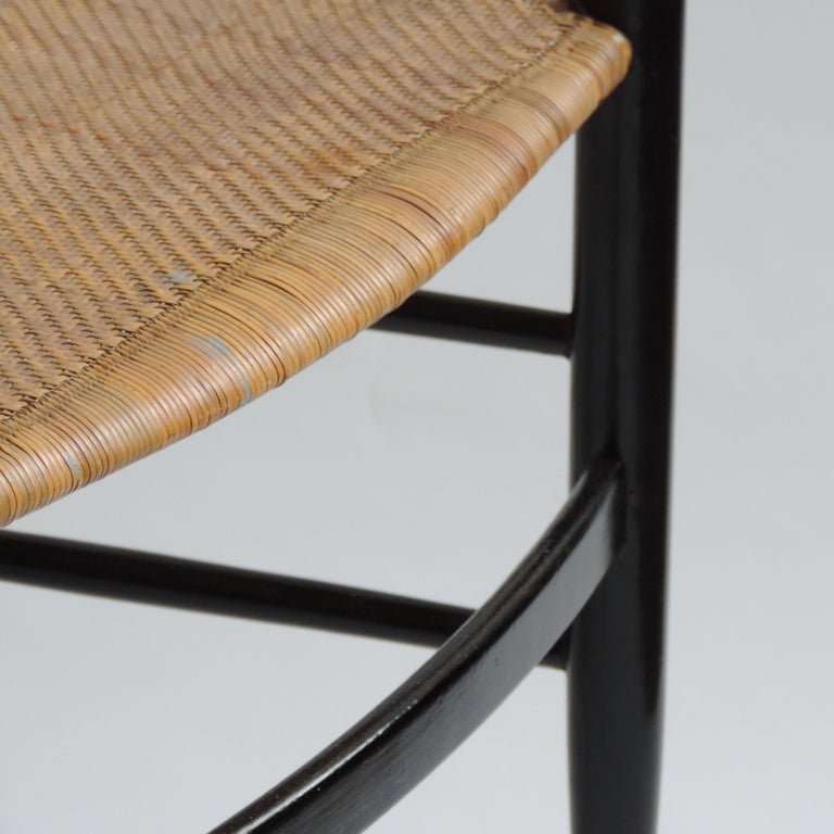 Wicker Single Chiavarina Mod. S1 chair by Azucena, Italy, 1950s For Sale