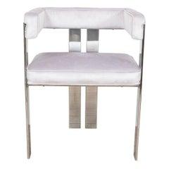 Single Chrome Frame Chair
