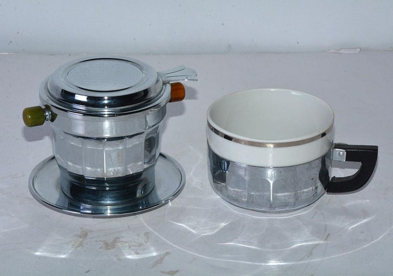 French Single Cup Art Deco Drip Coffee Maker For Sale