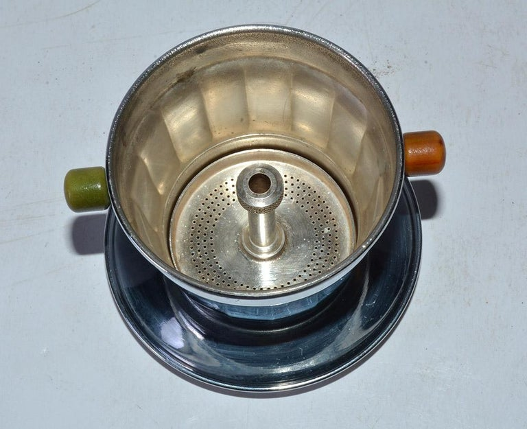 Stainless Steel Single Cup Art Deco Drip Coffee Maker For Sale