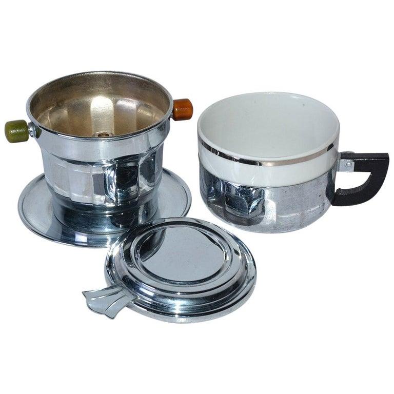 Single Cup Art Deco Drip Coffee Maker For Sale
