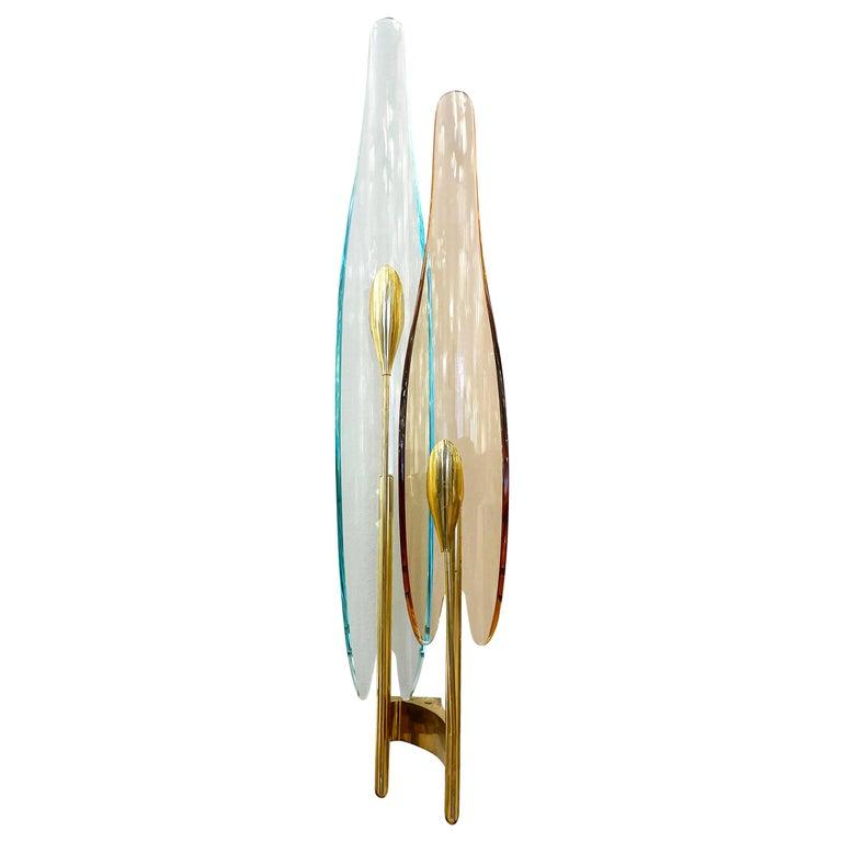 "Single ""Dalia"" Sconce by Max Ingrand for Fontana Arte For Sale"