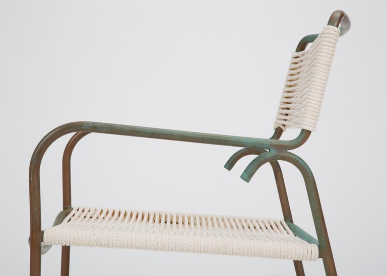 Patinated Single Dining Armchair by Walter Lamb for Brown Jordan
