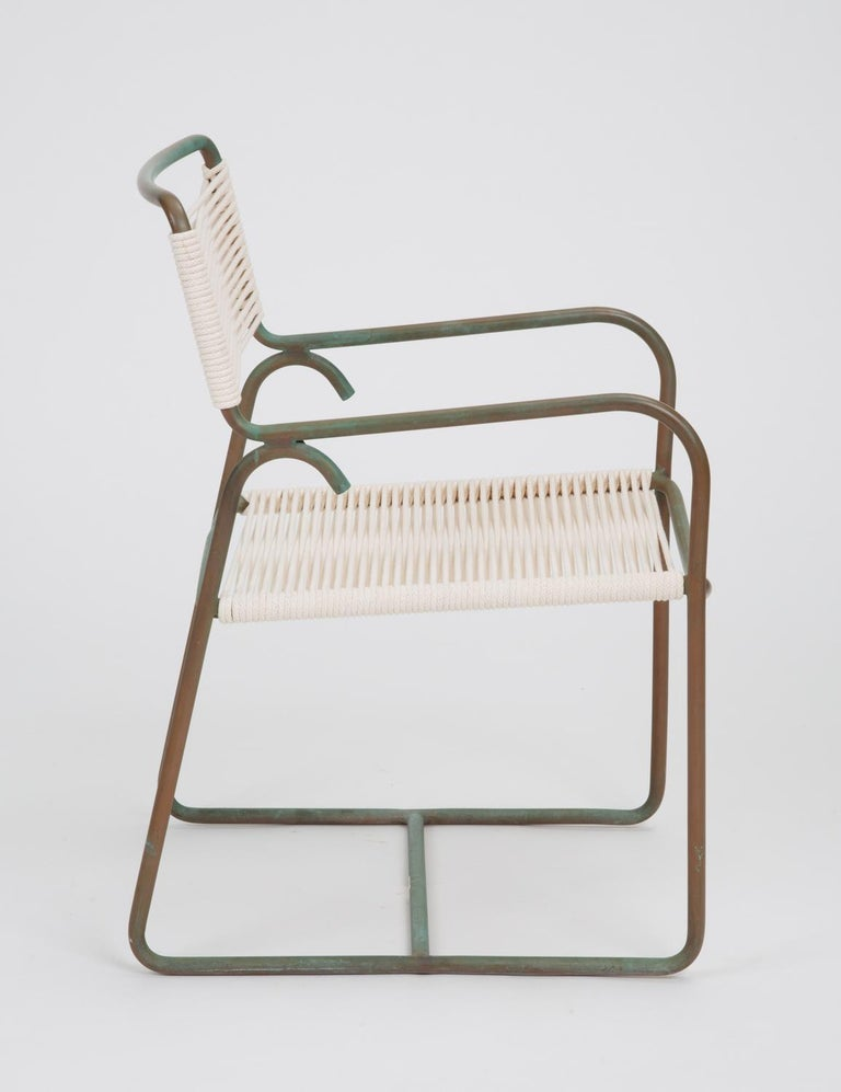 Bronze Single Dining Armchair by Walter Lamb for Brown Jordan