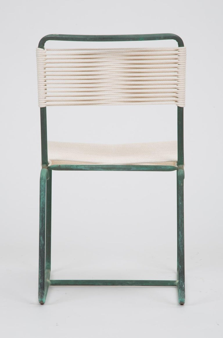 Patinated Single Dining Side Chair by Walter Lamb for Brown Jordan For Sale