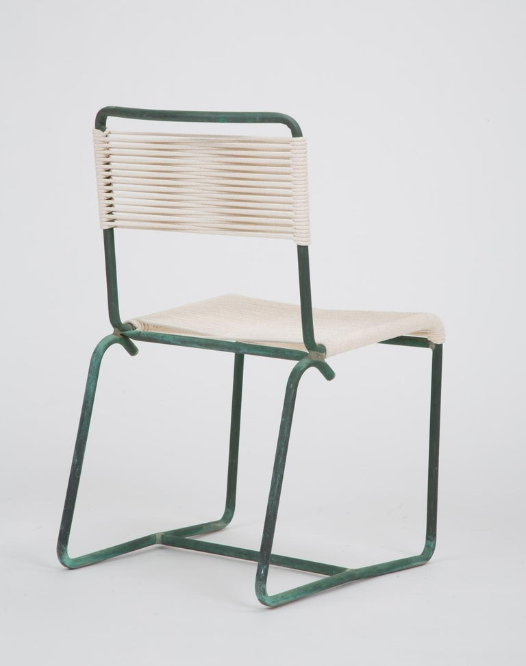 Single Dining Side Chair by Walter Lamb for Brown Jordan In Excellent Condition For Sale In Los Angeles, CA