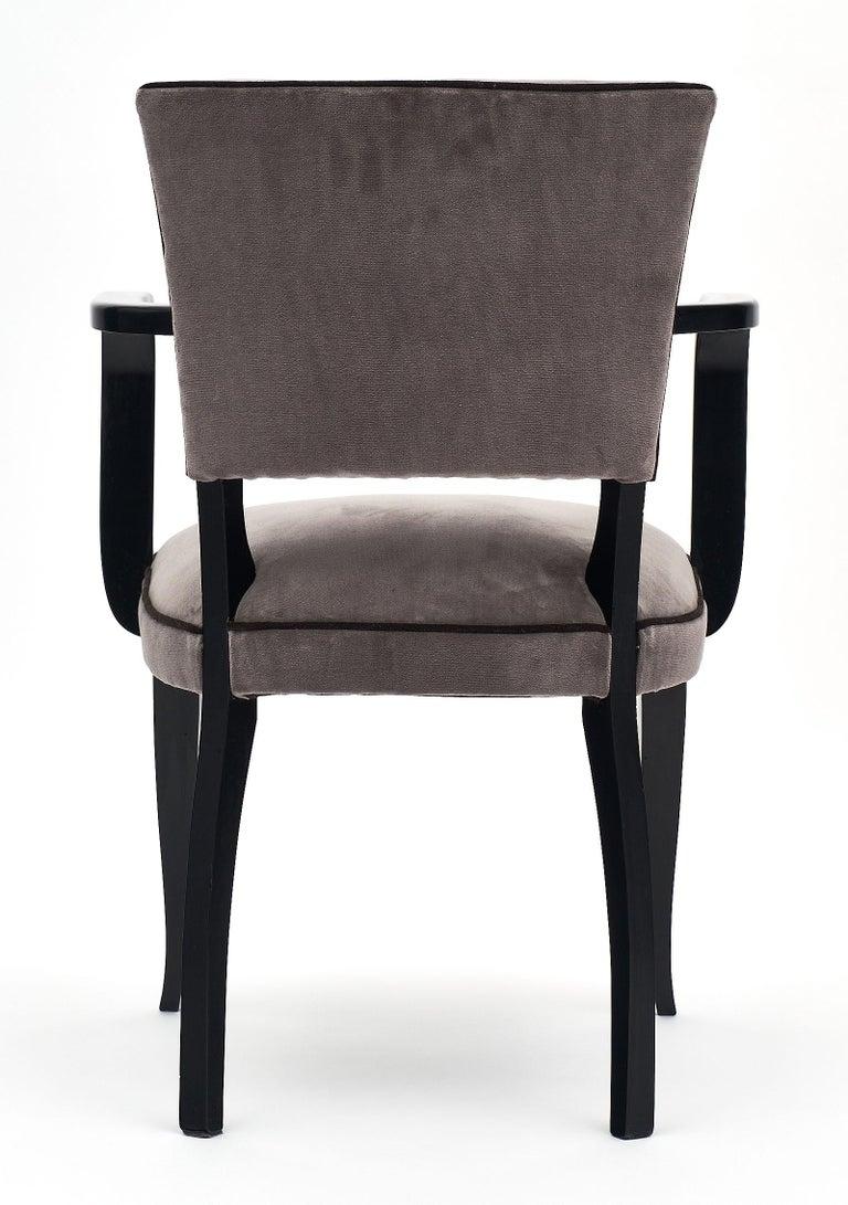 Single Ebonized Art Deco Bridge Chair For Sale 1