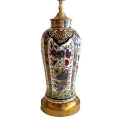 Single English Porcelain Table Lamp