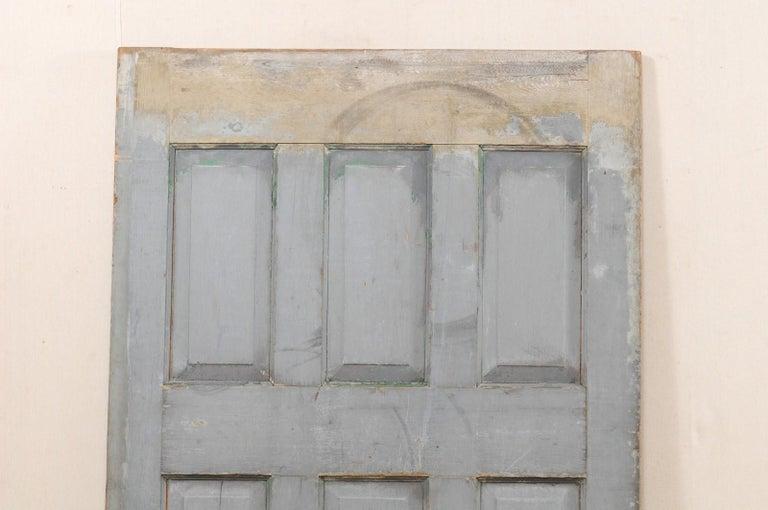 Single European 19th Century Six-Panel Wood Door For Sale 6