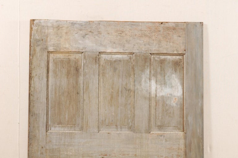 Carved Single European 19th Century Six-Panel Wood Door For Sale