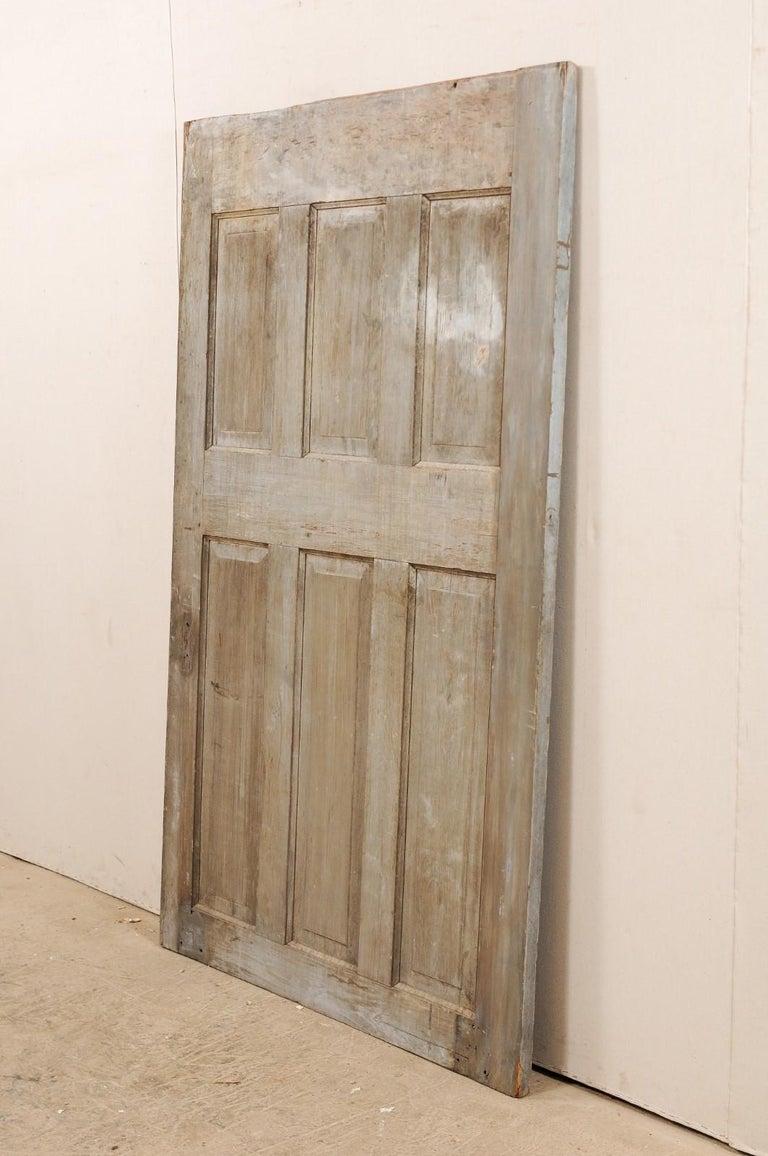Single European 19th Century Six-Panel Wood Door In Good Condition For Sale In Atlanta, GA