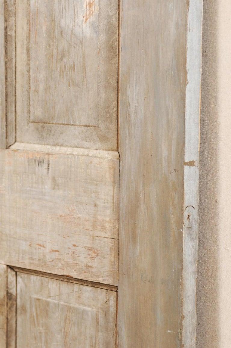 Single European 19th Century Six-Panel Wood Door For Sale 2