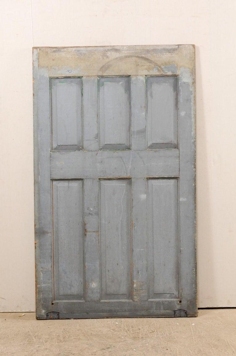 Single European 19th Century Six-Panel Wood Door For Sale 4