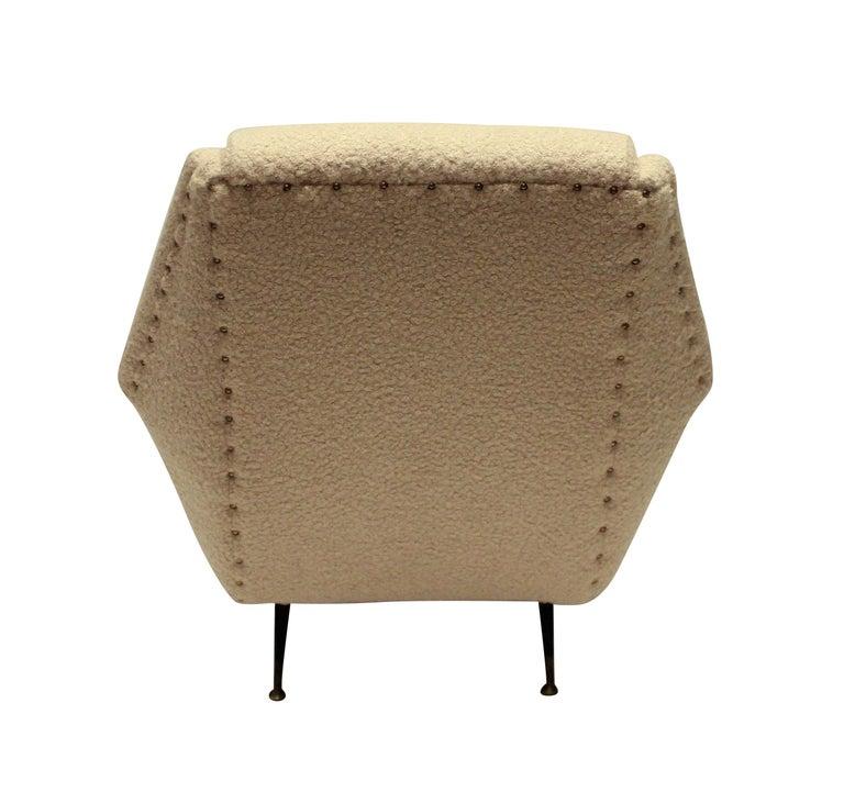 Italian Single Gio Ponti Armchair of Comfortable Proportions For Sale