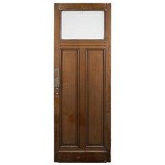 Single Glazed Panel Tall Pine Door, 20th Century