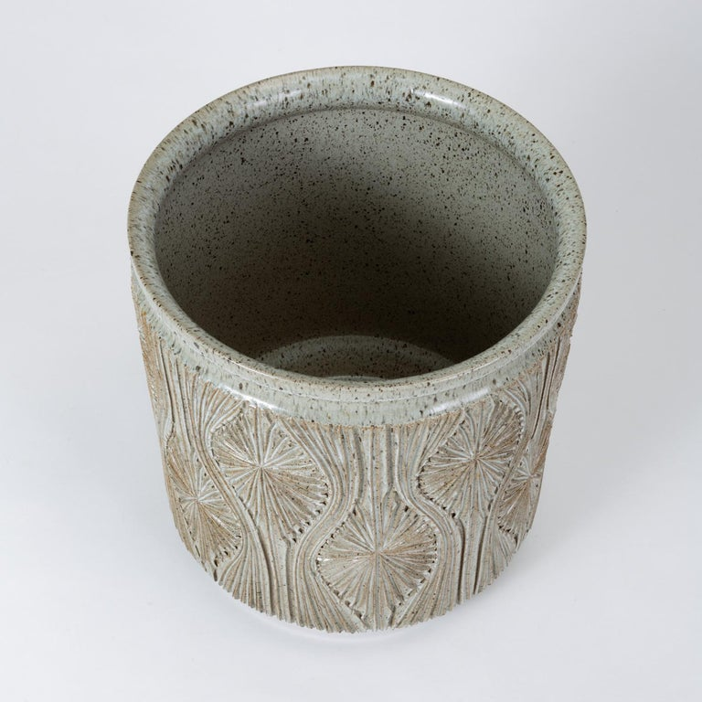 Single Gray-Glazed Earthgender Planter by David Cressey and Robert Maxwell 10