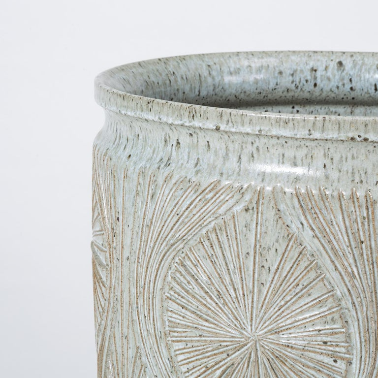 Single Gray-Glazed Earthgender Planter by David Cressey and Robert Maxwell 12