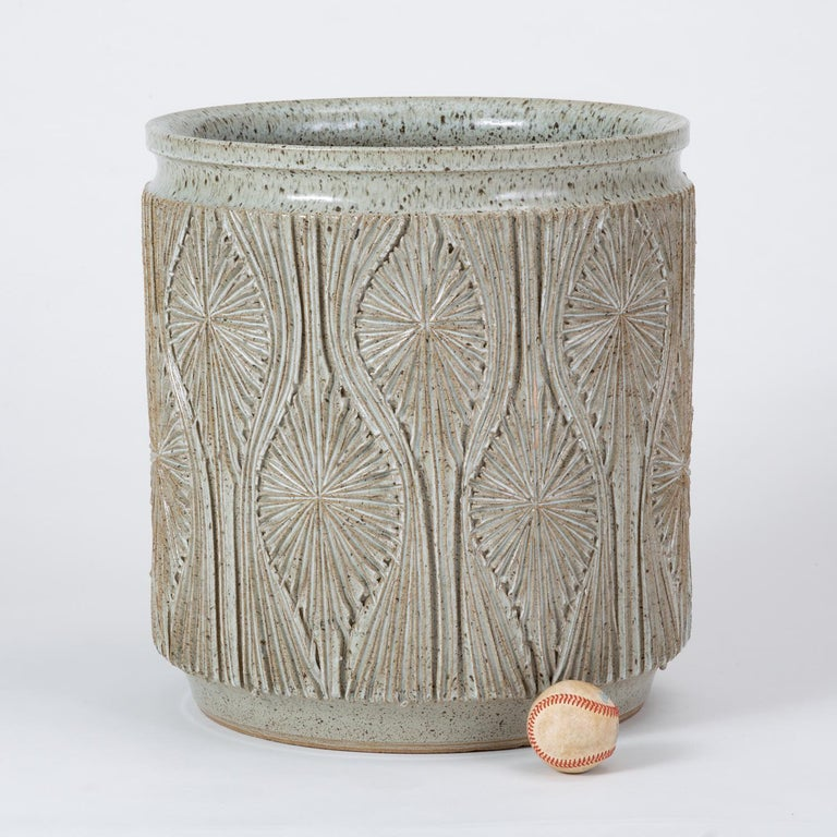 Single Gray-Glazed Earthgender Planter by David Cressey and Robert Maxwell 5