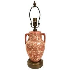 Single Hand Painted Ceramic Lamp